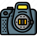 camera, devices, dslr, open, ultra icon