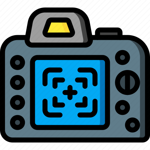 camera, devices, dslr, finder, ultra, view icon