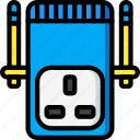 devices, plug, uk, ultra, wifi icon