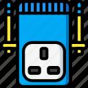 devices, plug, uk, ultra, wifi icon