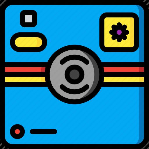 camera, devices, instant, polaroid, ultra icon