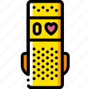devices, fitness, slim, tracker, watch, yellow icon