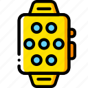 devices, os, smart, watch, yellow icon