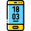 devices, iphone, phone, smart, yellow icon