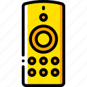 control, devices, remote, yellow icon