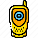 devices, radio, walkie talkie, yellow icon