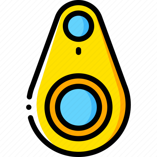 bluetooth, devices, tracker, yellow icon