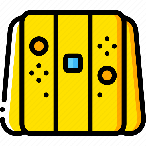 controller, devices, game, nintendo, switch, yellow icon