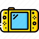 complete, devices, game, nintedo, switch, yellow icon