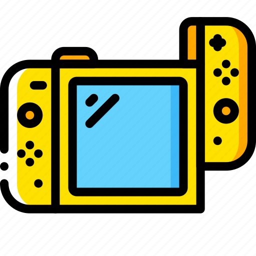 complete, devices, game, left, nintendo, switch, yellow icon