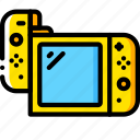 complete, devices, game, nintendo, right, switch, yellow icon