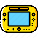 devices, game, nintendo, u, wii, yellow icon