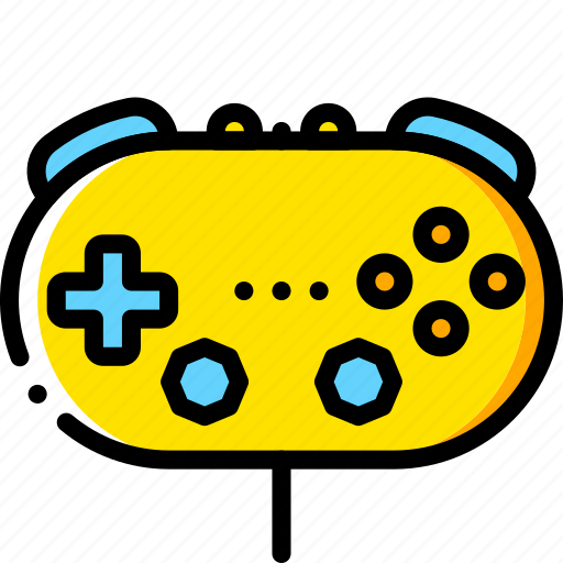 classic, controller, devices, game, nintendo, wii, yellow icon