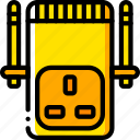 devices, plug, uk, wifi, yellow icon