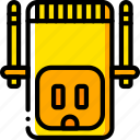 devices, plug, us, wifi, yellow icon