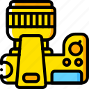 camera, devices, dslr, plan, yellow icon