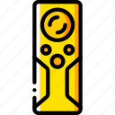 controller, devices, remote, yellow icon