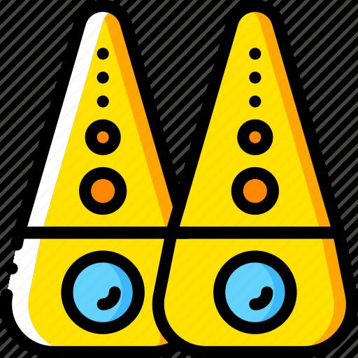 devices, sound, speakers, yellow icon