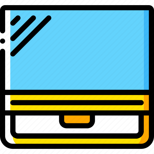 computer, devices, pc, yellow icon