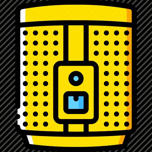 devices, hi fi, sonos, sound, yellow icon
