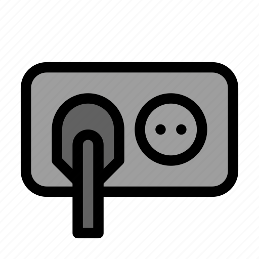 electricity, energy, outlet, plug, power icon