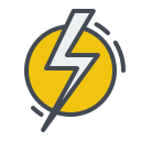 electric, electricity, energy, power, sign, thunder icon
