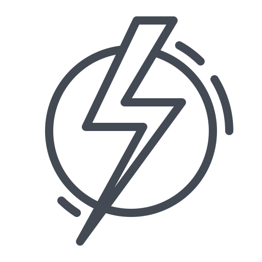 electric, electricity, power, sign, thunder icon