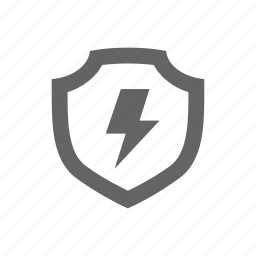 bolt, electricity, protect, protection, safe, secure, shield icon