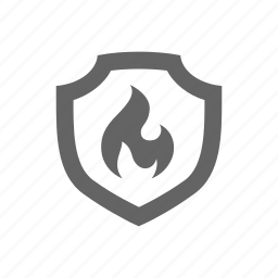 fire, flame, protect, protection, safe, safety, secure icon