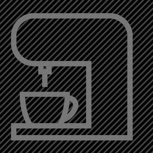 coffee, equipment, espresso, kitchen, machine, maker, making coffee icon