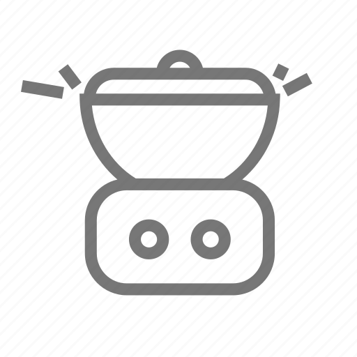 cook, cooker, cooking, kitchen, pot, slow, steam icon