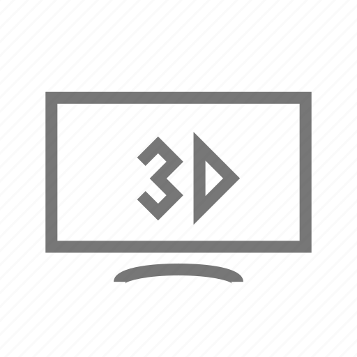 3d, dimensional, goggles, lcd, set, television, tv icon