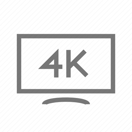 4k, display, lcd, screen, telly, tv, video icon