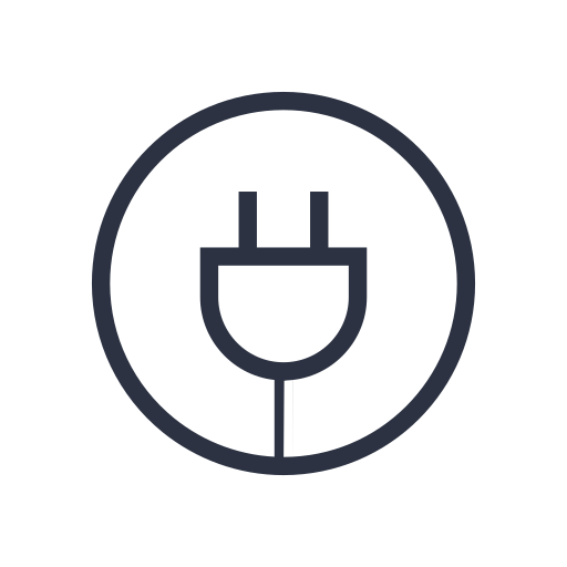 Cable, plugin, electronic, technology icon