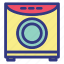 appliances, electronic, modern, technology, washing icon