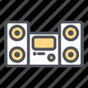 audio, bass, devices, electronic, sound, speaker icon icon