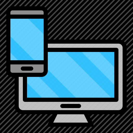 computer, device, monitor, phone, smartphone icon