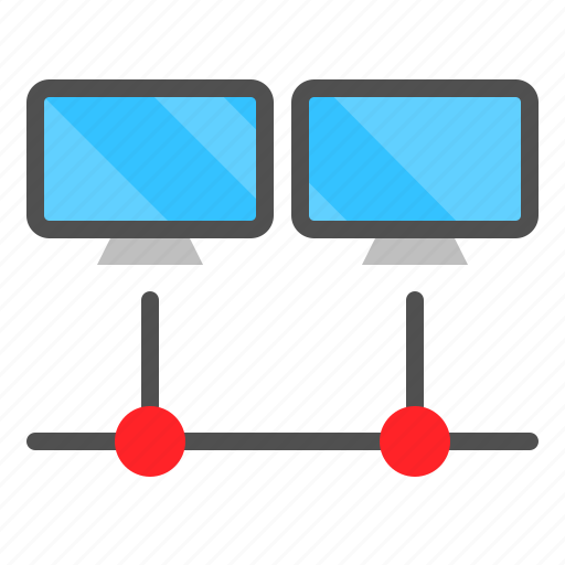 Computer, connection, device, lan, network, technology icon - Download on Iconfinder