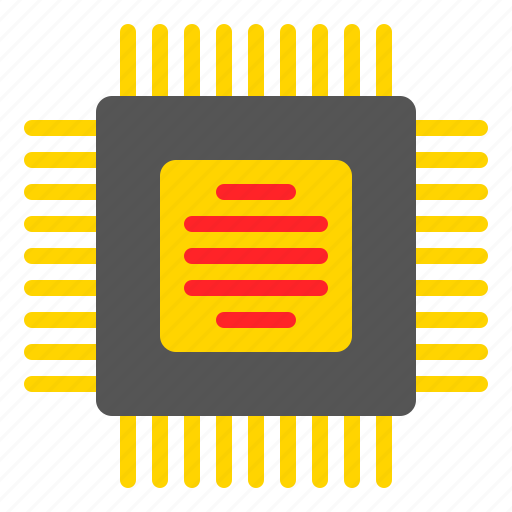 Chip, device, ic, integrated circuit, microchip, technology icon - Download on Iconfinder