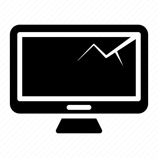 computer monitor, device, display, monitor, screen icon