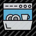 appliance, dishwasher, kitchen icon