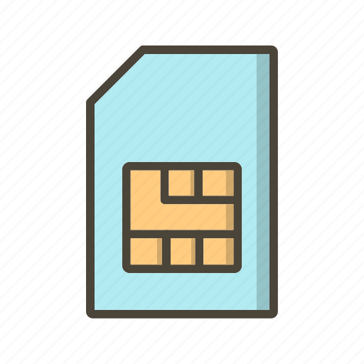 Sim, sim card, mobile sim icon - Download on Iconfinder
