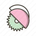 circular saw, cutter, saw icon