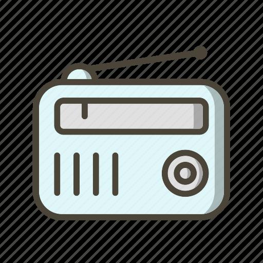Radio, radio set, fm radio icon - Download on Iconfinder