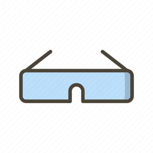 glasses, spectacles, steroscopic icon
