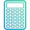 calculator, device, electronic, gadget, math icon