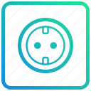 device, electric, electronic, gadget, power, socket icon