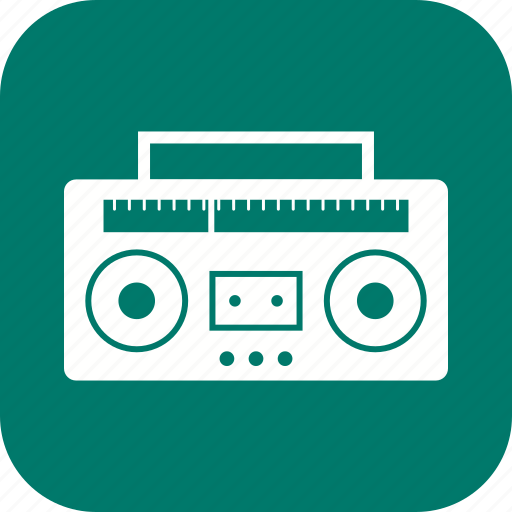 audio tape, radio, tape icon