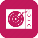 music player, vinyl player icon