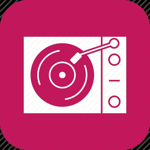 music player, vinyl player icon